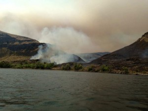 14,000 acre Chelan County Fire reaches border of Kittitas County. Photo courtesy of the Kittitas County Sheriff's Dept.