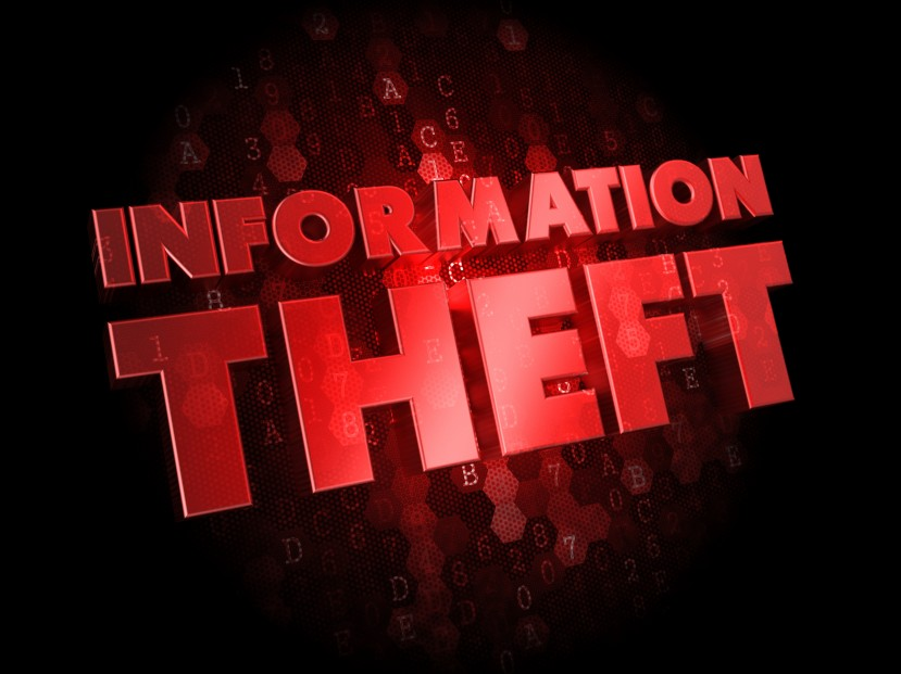 Information Theft on Dark Digital Background.