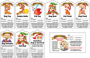 2013 Buddy's Buddies Pet Giving Tree TAGS