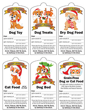 2014 Buddy's Buddies Pet Giving Tree Tags