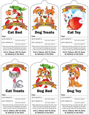2015 Buddy's Buddies Pet Giving Tree Tags