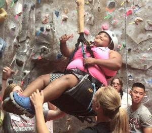 TAYSHA and Zach Snyder participated in the Courageous Kids Climb at CWU on Saturday, Aug. 11. Not Shown: adoptive mom Sena Snyder.Photo courtesy of CWU