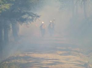 Smoky scene adjacent to burn out operation Credit: Washington Interagency Incident Management Team #4