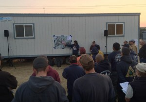 Morning briefing, Aug. 11, 2014 - South Cle Elum Ridge Fire crews. Photo courtesy of the USFS.