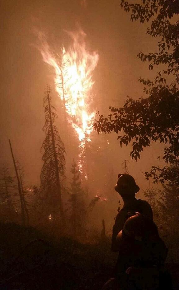 South Cle Elum Ridge Fire - photo courtesy of the USFS
