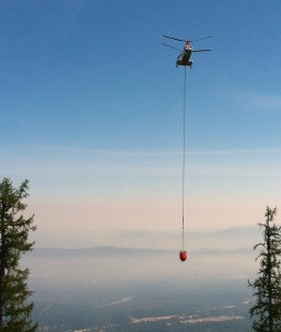 """Bucket Work"" - photo courtesy of USFS"