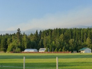 View of the smoke over the South Cle Elum Ridge Sunday, Aug. 10, 2014 (photo courtesy of Karen Watland.)