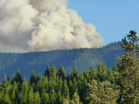 Karen Watland of Cle Elum chronicled the progress of the South Cle Elum Ridge Fire photographically. (Photo courtesy of Karen Watland, with permission)