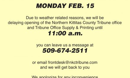 Delayed opening Tribune Office Feb 15 – opening at 11 a.m.